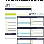 Personal Goal Setting Worksheet To Your Ultimate Marathon Chance