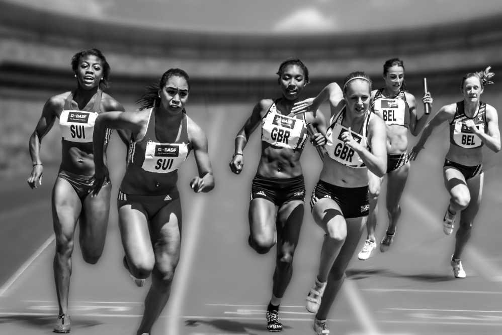 Running-Sports-Is-About-Victory-And-Great-Entertainment-Female-Relay-Race