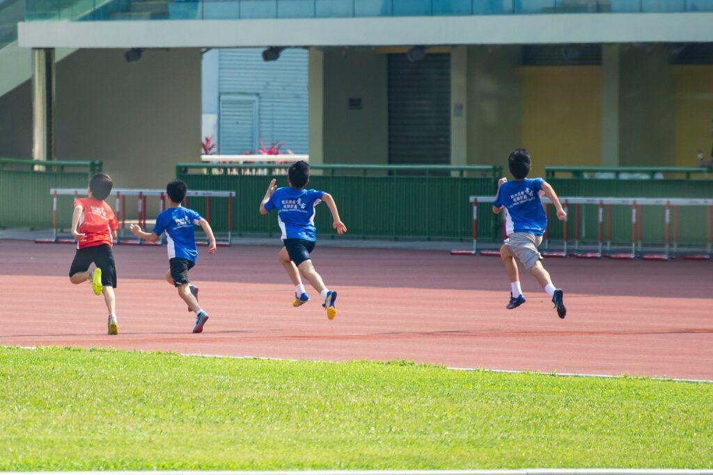 running-all-Life-four-children-running