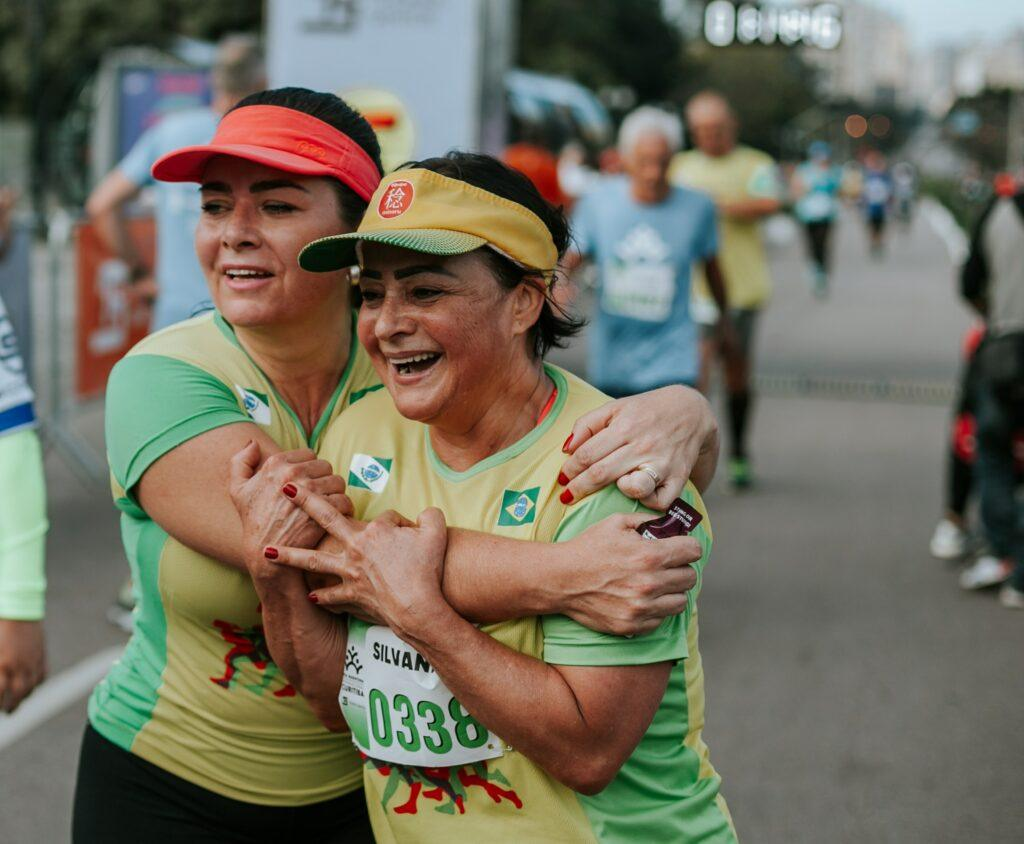 Xtreme-Xperience-In-A-Marathon-Makes-Powerful-Breakthroughs-Two-Ladies-Hug-Each-Other-After-A-Marathon
