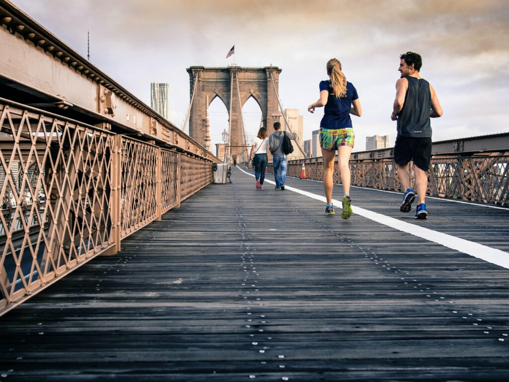 what-is-benefits-of-running-woman-man-running
