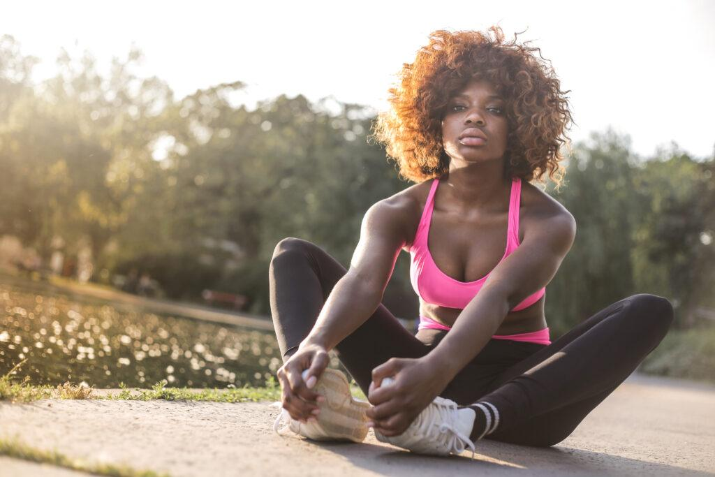 How-to-run-for-better-fitness-woman-make-stretch-exercises