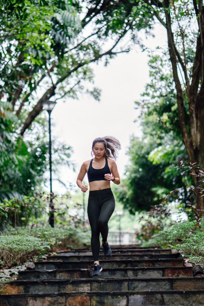 How-to-Choose-The-Best-Running-Shoes-For-Women-Woman-Running-Down-The-Stair